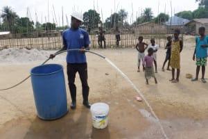 The Water Project: Kamasondo, Borope Village School -  Yeild Test