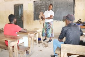 The Water Project: Kamasondo, Borope Village School -  Hygiene Facilitator Teaching About Diarrhea