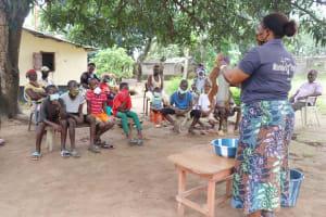The Water Project: Lungi, Suctarr, #1 Kabbia Lane -  Hygiene Facilitator Teaching About Diarrhea