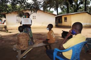 The Water Project: Lungi, Suctarr, #1 Kabbia Lane -  Teaching Proper Latrine Use And Care