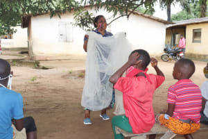 The Water Project: Lungi, Suctarr, #1 Kabbia Lane -  Malaria Prevention And Mosquito Net Use Session