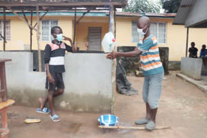The Water Project: Lungi, Suctarr, #1 Kabbia Lane -  Kids Demonstrate Handwashing With A Tippy Tap