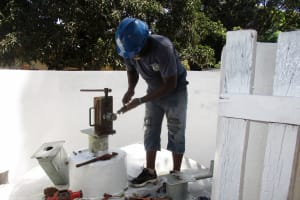 The Water Project: Lungi, Suctarr, #1 Kabbia Lane -  Pump Installation