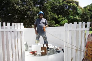 The Water Project: Lungi, Suctarr, #1 Kabbia Lane -  Checking Well Depth And Static Water Level