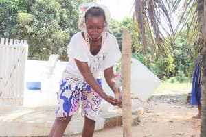 The Water Project: Lungi, Suctarr, #1 Kabbia Lane -  Handwashing Before Dedication Ceremony