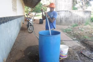 The Water Project: Lungi, Tintafor, St. Augustine Senior Secondary School -  Yield Test