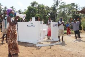 The Water Project: Lokomasama, Conteya Village -  Community Members Celebrate The Well
