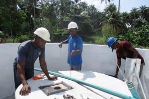 The Water Project: Lokomasama, Conteya Village -  Checking Water Depth And Static Level