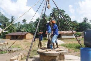 The Water Project: Lokomasama, Conteya Village -  Yield Test