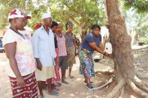 The Water Project: Lokomasama, Conteya Village -  Handwashing Demonstration