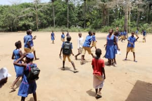 The Water Project: St. Peter Roman Catholic Primary School -  Pupils Outside Classroom