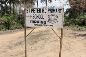 The Water Project: St. Peter Roman Catholic Primary School -  School Sign Board