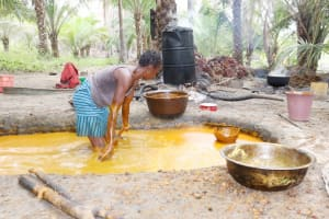 The Water Project: St. Peter Roman Catholic Primary School -  Woman Processing Palm Oil