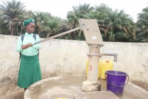 The Water Project: DEC Kitonki Primary School -  Student Collecting Water