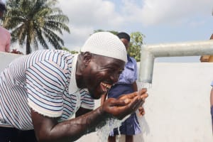 The Water Project: Sulaiman Memorial Academy Jr. Secondary School -  Teacher Happy For Clean And Safe Water