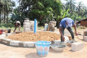 The Water Project: Lokomasama, Rotain Village -  Pad Construction