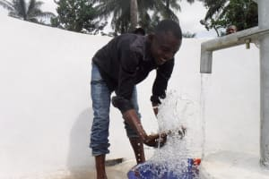 The Water Project: Lokomasama, Rotain Village -  Enjoying Clean Water