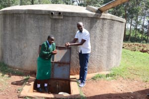The Water Project: Bojonge Primary School -  Field Officer Erick And Marion