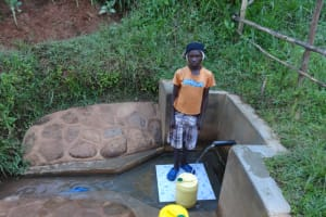 The Water Project: Ibinzo Community, Lucia Spring -  Millicent At The Spring
