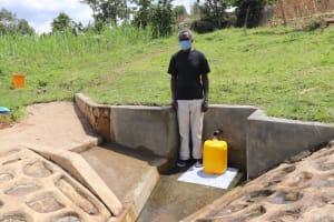 The Water Project: Bungaya Community, Charles Khainga Spring -  Mr Khainga Masked Up
