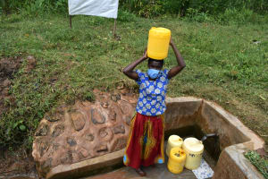 The Water Project: Shivembe Community, Murumbi Spring -  Carrying Water