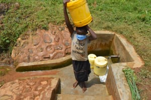 The Water Project: Shivembe Community, Murumbi Spring -  Girls Are Heroes