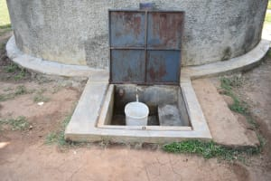 The Water Project: Mabanga Primary School -  Clean Safe Water Flowing