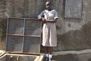 The Water Project: Ichinga Muslim Primary School -  Amisa At The Rain Tank