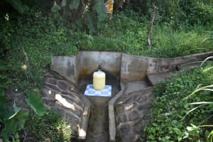 The Water Project: Munenga Community, Burudi Spring -  Clean Water Flowing