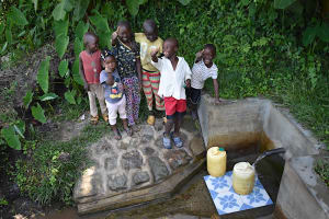 The Water Project: Munenga Community, Burudi Spring -  Kids At The Spring