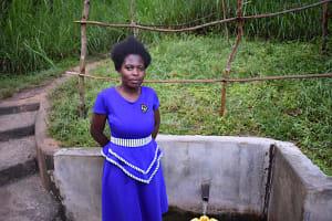 The Water Project: Emukoyani Community, Ombalasi Spring -  Mercyline Andala