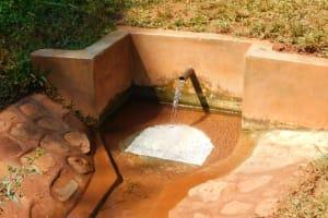 The Water Project: Shikhombero Community, Atondola Spring -  Water Flowing At Atondola Spring