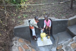 The Water Project: Musango Commnuity, Wabuti Spring -  Children Enjoying Water
