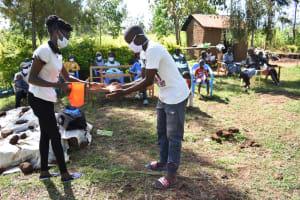 The Water Project: Musango Commnuity, Wabuti Spring -  Handwashing Practical