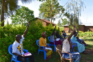 The Water Project: Musango Commnuity, Wabuti Spring -  Lively Training Session