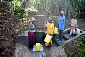 The Water Project: Musango Commnuity, Wabuti Spring -  Thumbs Up For Clean Water