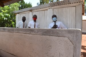 The Water Project: Kitagwa Secondary School -  Boys At Their New Latrines