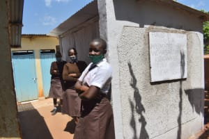 The Water Project: Kitagwa Secondary School -  Girls At Their New Latrines