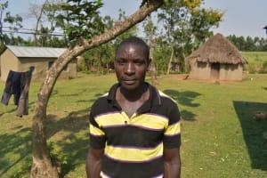 The Water Project: Indulusia Community, Osanya Spring -  Moses Khamoi