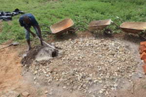 The Water Project: Shianda Community, Panyako Spring -  Mixing Concrete