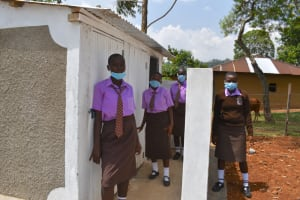 The Water Project: Friends Musiri Secondary School -  Girls At Their New Latrines