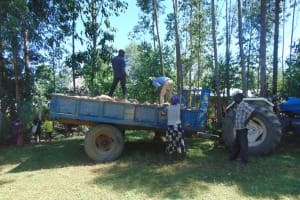 The Water Project: Mwikhupo Primary School -  Local Materials Delivery
