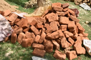 The Water Project: Maraba Community, Shisia Spring -  Bricks Provided By The Community