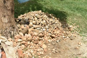 The Water Project: Maraba Community, Shisia Spring -  Stones Provided By The Community