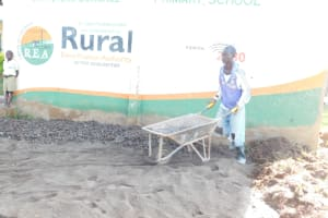 The Water Project: St. Peter's Ebunga'le Primary School -  Preparing And Mixing Concrete And Cement