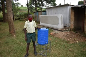 The Water Project: Wavoka Primary School -  At A New Handwashing Station