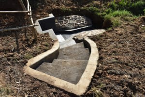 The Water Project: Maraba Community, Shisia Spring -  Extended Staircase To Aid Access To The Spring