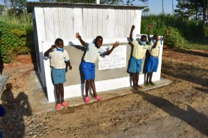 The Water Project: St. Peter's Ebunga'le Primary School -  Boys Posing At Their Newly Constructed Vip Latrines