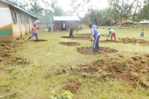 The Water Project: St. Peter's Ebunga'le Primary School -  Excavation
