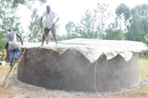 The Water Project: St. Peter's Ebunga'le Primary School -  Setting Up The Doom